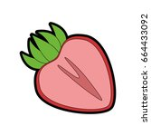 healthy fruits design | Shutterstock .eps vector #664433092