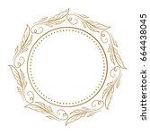 vector floral vintage frame on... | Shutterstock .eps vector #664438045