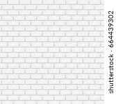 white brick wall in subway tile ... | Shutterstock .eps vector #664439302