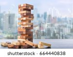 risk investment business... | Shutterstock . vector #664440838