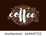 coffee banner template | Shutterstock .eps vector #664445722