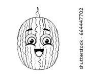 watermelon fruit icon | Shutterstock .eps vector #664447702
