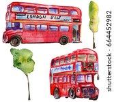 watercolor london illustration. ... | Shutterstock . vector #664452982