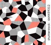 vector abstract seamless... | Shutterstock .eps vector #664459312