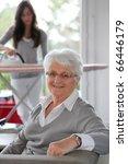 closeup of elderly woman with... | Shutterstock . vector #66446179