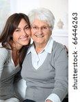 closeup of elderly woman with... | Shutterstock . vector #66446263