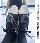 tap shoes on a little dancer... | Shutterstock . vector #664468312