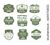 village life   vector set of... | Shutterstock .eps vector #664476832