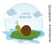Happy Monsoon Background With...