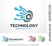 technology logo template design ... | Shutterstock .eps vector #664481236