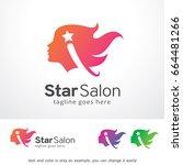 star salon logo template design ... | Shutterstock .eps vector #664481266