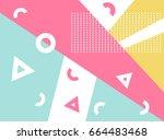 pattern memphis style vector | Shutterstock .eps vector #664483468