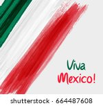 viva mexico background with... | Shutterstock .eps vector #664487608
