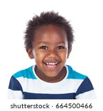 african child laughing isolated ... | Shutterstock . vector #664500466