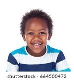 african child laughing isolated ... | Shutterstock . vector #664500472