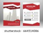 vector flyer template layout... | Shutterstock .eps vector #664514086