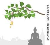 Buddha Statue And Bodhi Tree...