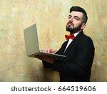 classic businessmans work.  | Shutterstock . vector #664519606