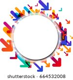 white round background with... | Shutterstock .eps vector #664532008