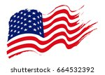 american flag  united states of ... | Shutterstock .eps vector #664532392