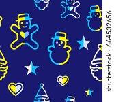 digital vector yellow blue... | Shutterstock .eps vector #664532656
