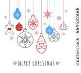 digital vector blue happy new...   Shutterstock .eps vector #664532668