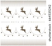 reindeer and pattern design ... | Shutterstock .eps vector #664535242