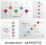 collection of colorful... | Shutterstock .eps vector #664543732