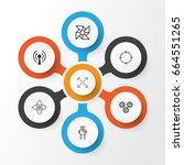 robotics icons set. collection... | Shutterstock .eps vector #664551265