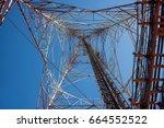 mobile phone communication... | Shutterstock . vector #664552522