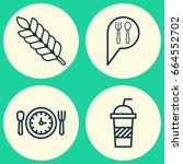 cafe icons set. collection of... | Shutterstock .eps vector #664552702