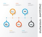 set of graphs  diagrams and... | Shutterstock .eps vector #664553962