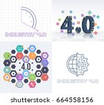 industry 4.0 concept business... | Shutterstock .eps vector #664558156