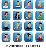 set of peoples icons | Shutterstock .eps vector #66455956