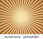 sun burst background. vintage... | Shutterstock . vector #664566085