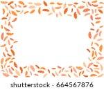 feather vector design  card... | Shutterstock .eps vector #664567876
