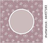 snowy card | Shutterstock .eps vector #66457183