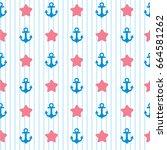 sea seamless pattern background ...   Shutterstock .eps vector #664581262