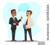 vector cartoon illustration of... | Shutterstock .eps vector #664582666