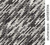 vector seamless black and white ... | Shutterstock .eps vector #664585546