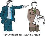 businessman fired employee... | Shutterstock .eps vector #664587835