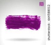 purple brush stroke and texture.... | Shutterstock .eps vector #664588012