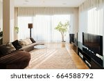 comfortable place in living... | Shutterstock . vector #664588792