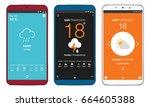 set of three weather ui design...