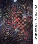 abstract glitter bokeh light... | Shutterstock . vector #664612765