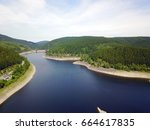 aerial drone photography with a ... | Shutterstock . vector #664617835