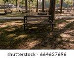 Picnic Tables In A Public Park...