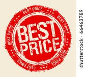 best price rubber stamp. | Shutterstock .eps vector #66463789