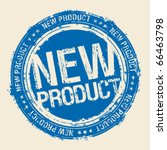 new product rubber stamp. | Shutterstock .eps vector #66463798