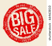 Big sale rubber stamp. - stock vector